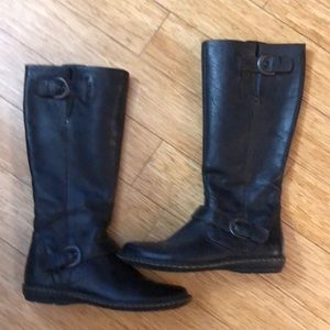 B.O.C Tall Black Leather Boots 7.5